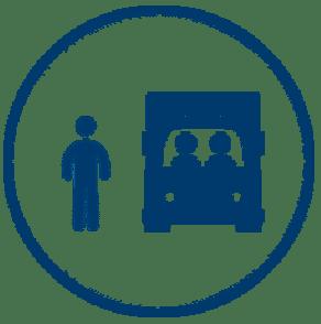 Personas y vehículos